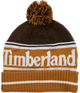 Timberland Color Blocked Logo Watch Cap Pom Beanie Hat