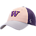 Front view of Zephyr Washington Huskies College Triad Strapback Hat in Team Colors