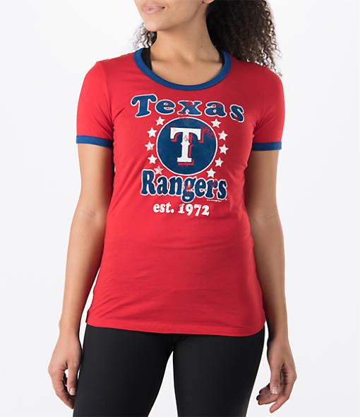 Women's New Era Texas Rangers MLB Vintage Ringer T-Shirt
