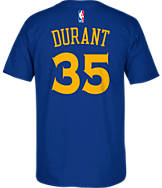Men's adidas Golden State Warriors NBA Kevin Durant Replica Name and Number T-Shirt