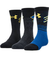 Kids' Under Armour SC30 Phenom 3-Pack Crew Socks