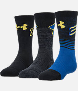 Kids' Under Armour SC30 Phenom 3-Pack Crew Socks Product Image