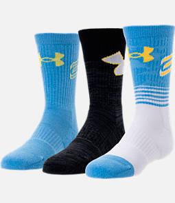 Kids' Under Armour SC30 Phenom 3-Pack Crew Socks Product Image