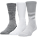 Front view of Men's Under Armour SC30 Phenom Twisted 3-Pack Crew Socks in White