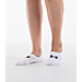 Back view of Women's Under Armour 3-Pack Footie Socks in White/Black