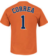 Men's Majestic Houston Astros MLB Carlos Correa Name and Number T-Shirt