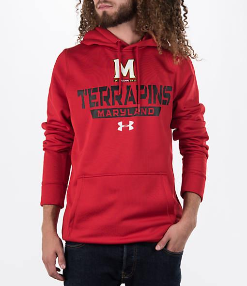 Men's Under Armour Maryland Terrapins College Poly Fleece Hoodie