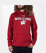 Men's Under Armour Wisconsin Badgers College Poly Fleece Hoodie