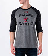 Men's Under Armour Boston College Eagles College Charged Tri-Blend Henley Shirt