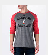 Men's Under Armour Cincinnati Bearcats College Charged Tri-Blend Henley Shirt