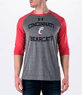 Men's Under Armour Cincinnati Bearcats College Charged Tri-Blend Henley Shirt