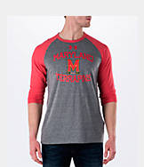 Men's Under Armour Maryland Terrapins College Charged Tri-Blend Henley Shirt