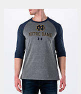 Men's Under Armour Notre Dame Fighting Irish College Charged Tri-Blend Henley Shirt