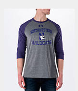 Men's Under Armour Northwestern Wildcats College Charged Tri-Blend Henley Shirt