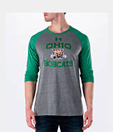 Men's Under Armour Ohio Bobcats College Charged Tri-Blend Henley Shirt