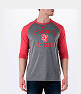 Men's Under Armour St. Johns Red Storm College Charged Tri-Blend Henley Shirt