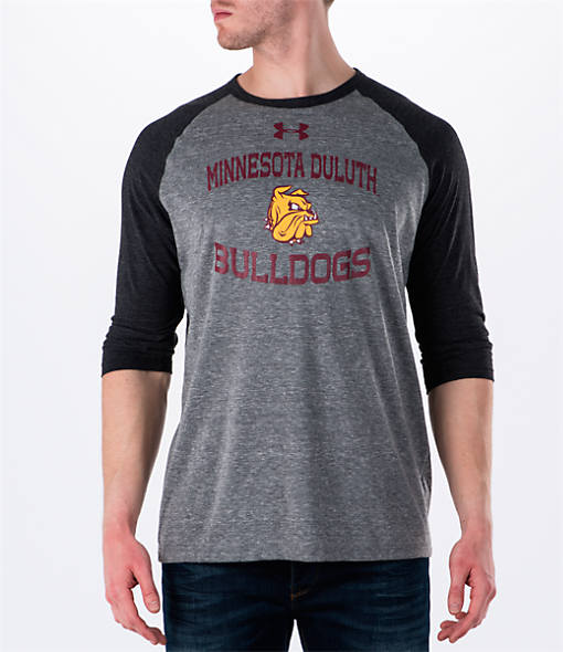 Men's Under Armour Minnesota Duluth Bulldogs College Charged Tri-Blend Henley Shirt