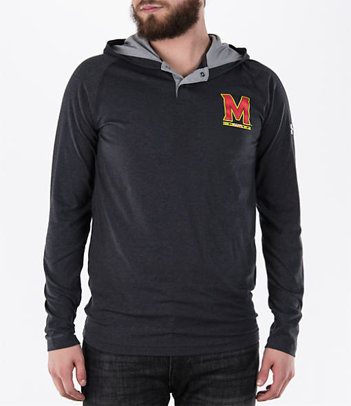 Men's Under Armour Maryland Terrapins College Charged Henley Hoodie