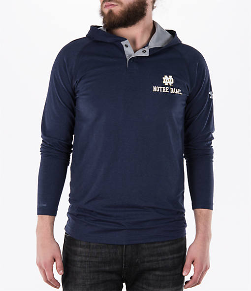 Men's Under Armour Notre Dame Fighting Irish College Charged Henley Hoodie