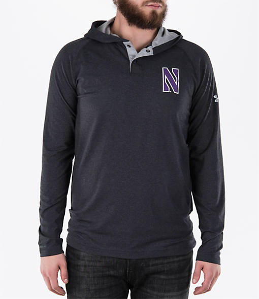 Men's Under Armour Northwestern Wildcats College Charged Henley Hoodie