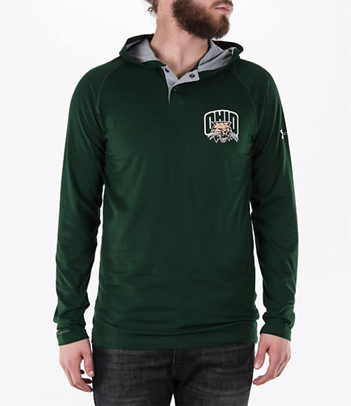 Men's Under Armour Ohio Bobcats College Charged Henley Hoodie