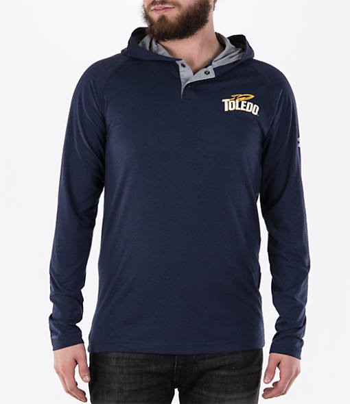 Men's Under Armour Toledo Rockets College Charged Henley Hoodie