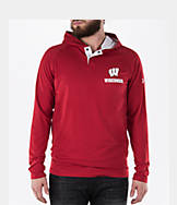 Men's Under Armour Wisconsin Badgers College Charged Henley Hoodie