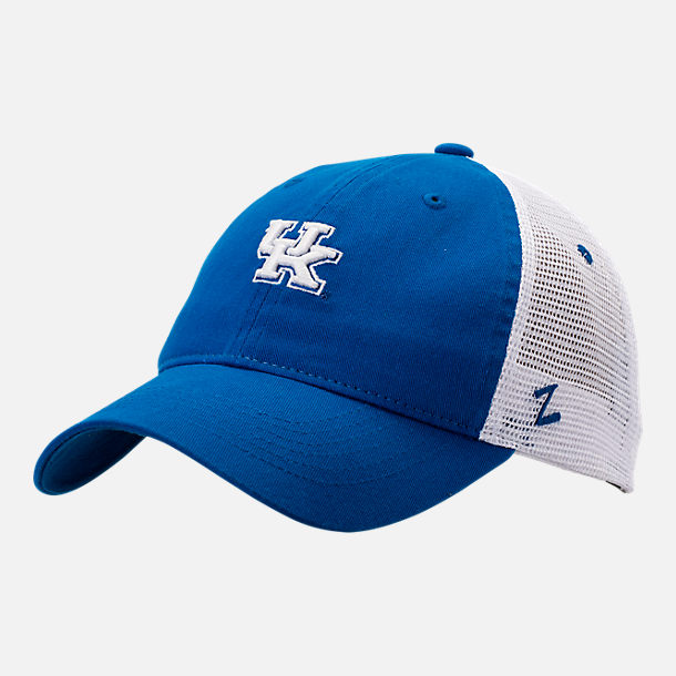 Front view of Zephyr Kentucky Wildcats College Cap in Blue/White