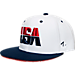 Front view of Zephyr USA Sole Snapback Hat in WHT
