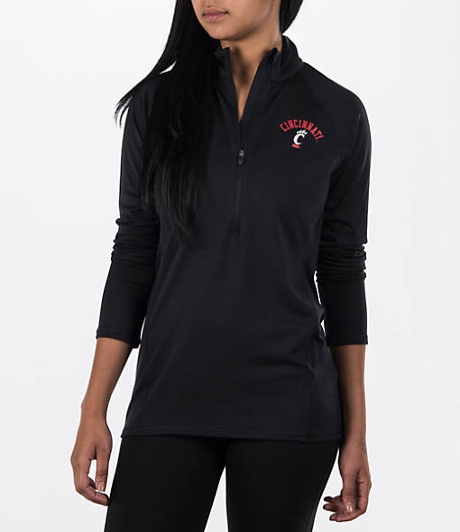 Women's Under Armour Cincinnati Bearcats College Poly Tech Half-Zip Shirt