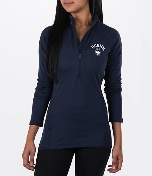 Women's Under Armour UCONN Huskies College Poly Tech Half-Zip Shirt