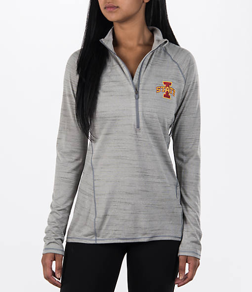 Women's Under Armour Iowa State Cyclones College Poly Tech Half-Zip Shirt