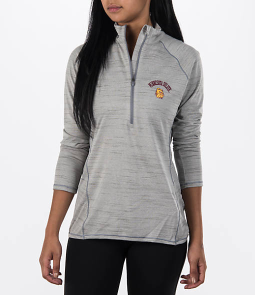 Women's Under Armour Minnesota Golden Gophers College Poly Tech Half-Zip Shirt