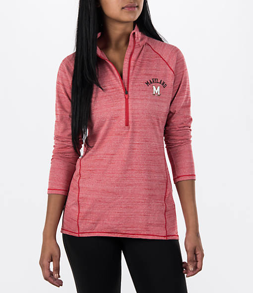 Women's Under Armour Maryland Terrapins College Poly Tech Half-Zip Shirt