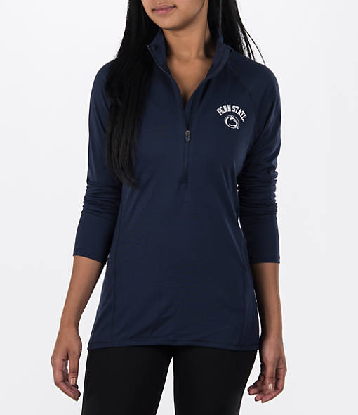 Women's Under Armour Penn State Nittany Lions College Poly Tech Half-Zip Shirt