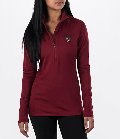 Women's Under Armour South Carolina Gamecocks College Poly Tech Half-Zip Shirt