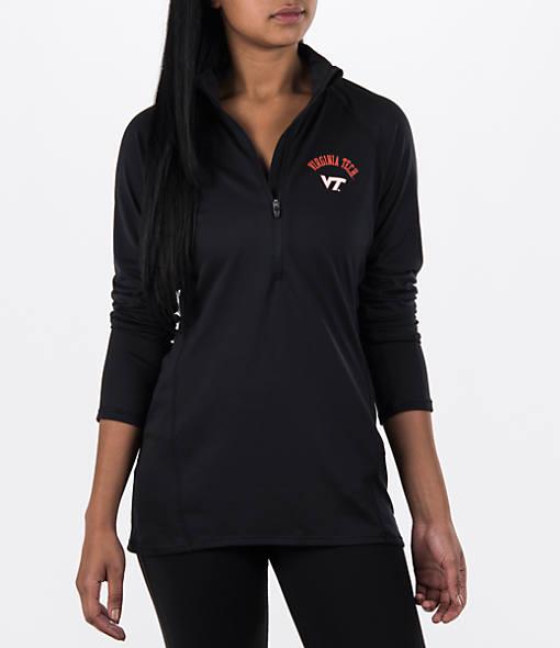 Women's Under Armour College Poly Tech Half-Zip Shirt