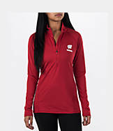 Women's Under Armour Wisconsin Badgers College Poly Tech Half-Zip Shirt