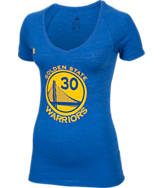 Women's adidas Golden State Warriors NBA Stephen Curry Name and Number T-Shirt
