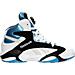 Right view of Men's Reebok Shaq Attaq OG Basketball Shoes in White/Black/Blue
