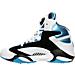 Left view of Men's Reebok Shaq Attaq OG Basketball Shoes in White/Black/Blue