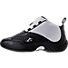 Left view of Men's Reebok Answer IV Basketball Shoes in Black/White/Navy