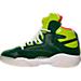 Left view of Men's Reebok Shaq Attaq Retro Basketball Shoes in Racing Green/Sonic Green/White