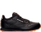 Kids' Grade School Reebok Classic Leather Gum Casual Shoes