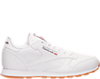 Kids' Grade School Reebok Classic Leather Gum Casual Shoes