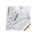 Front view of Kids' Toddler Reebok Classic Leather Casual Shoes in White/Gum