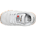 Top view of Kids' Toddler Reebok Classic Leather Casual Shoes in White/Gum