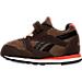 Left view of Boys' Toddler Reebok Retro Runner Casual Shoes in Earth/Dark Brown/Khaki