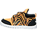 Left view of Boys' Toddler Reebok VentureFlex Running Shoes in Team Orange/Black/White