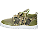 Left view of Boys' Toddler Reebok VentureFlex Lead Running Shoes in Warm Olive/Stone/Luminous Lime
